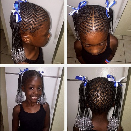 AFRICAN AMERICAN GIRLS BRAIDED HAIRSTYLE