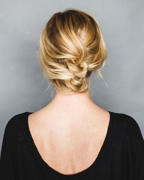 ASY HOLIDAY UPDO FOR SHORT HAIR