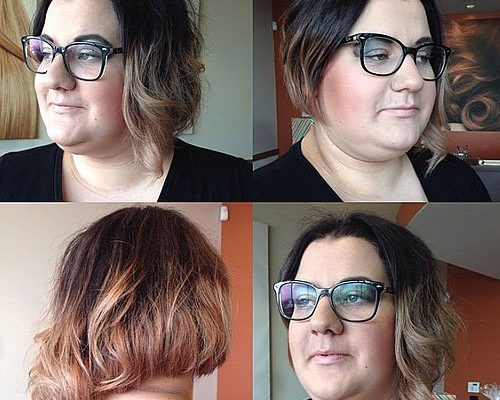ASYMMETRICAL OMBRE WITH WAVES