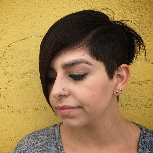 ASYMMETRICAL PIXIE CUT WITH SIDE BANGS