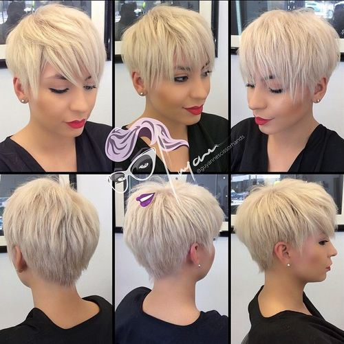 BLONDE CHOPPY PIXIE