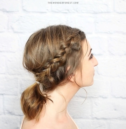 BRAIDED PONYTAIL UPDO
