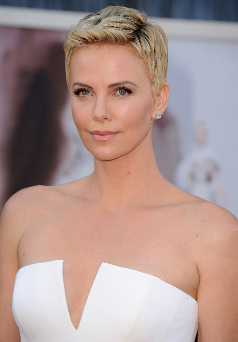 CHARLIZE THERON'S SPIKY TEXTURE