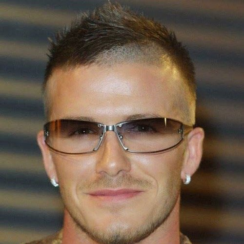 Cool David Beckham Haircut Skin Fade With Faux Hawk
