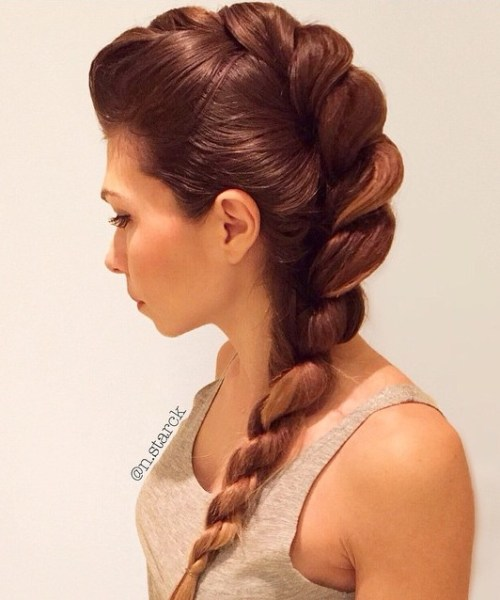 DRAMATIC ROPE TWISTED BRAID