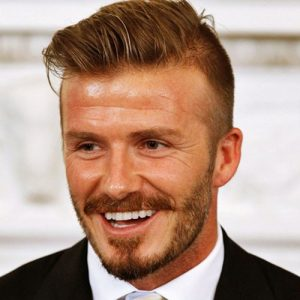 David Beckham Hairstyle Fade With Comb Over And Beard