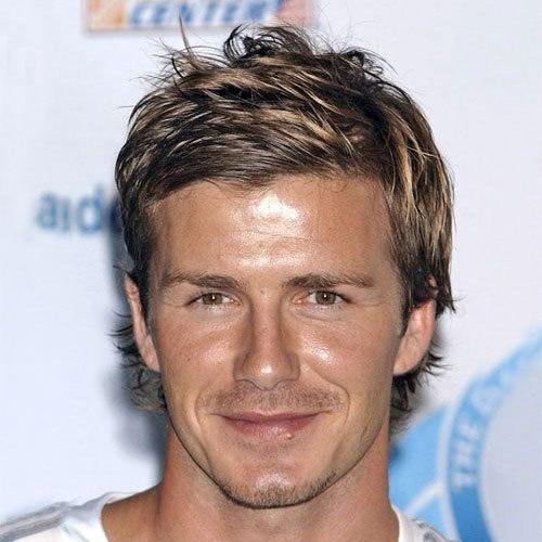 David Beckham Hairstyles Long Messy Hair