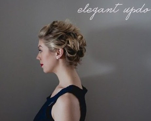 ELEGANT UPDO FOR FORMAL EVENTS