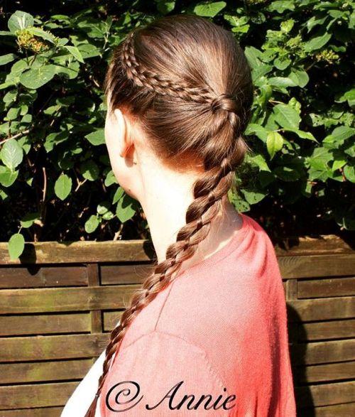 FOUR STRAND BRAID FOR LONG THIN HAIR