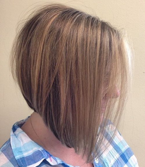 Hairstyles for Women Over 40 Angled Bob