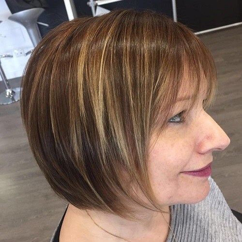Hairstyles for Women Over 40 Fringed Bob