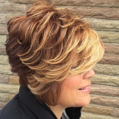 Hairstyles for Women Over 40 Ombre Bang
