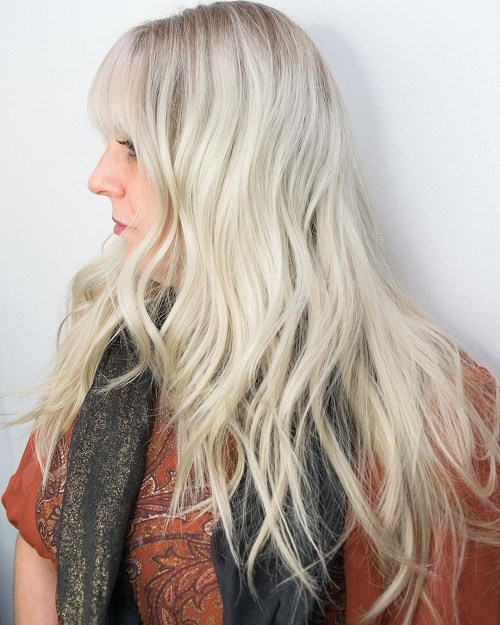 Hairstyles for Women Over 40 Pale Boho Waves