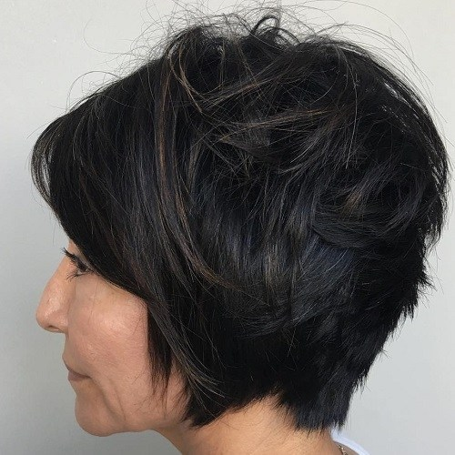Hairstyles for Women Over 40 Stacked Side Bang
