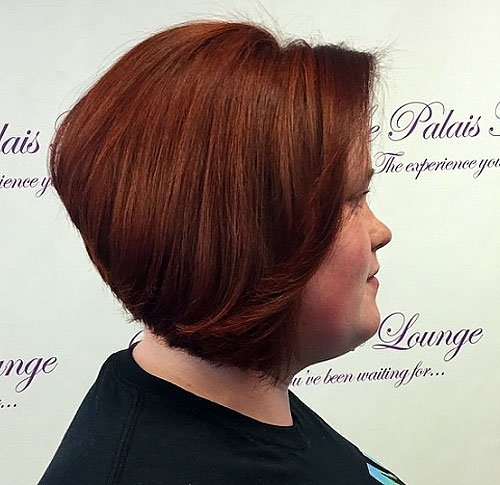 INVERTED BOB HAIRCUT FOR ROUND FACE