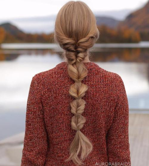 Intricate fishtail braid
