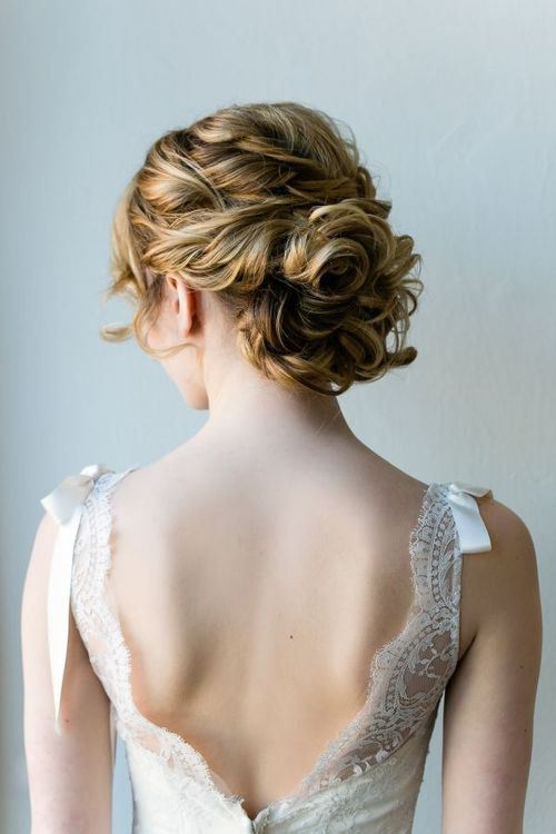 LACY MEDIUM LENGTH WEDDING UPDO HAIRSTYLE WITH FABULOUS TEXTURE