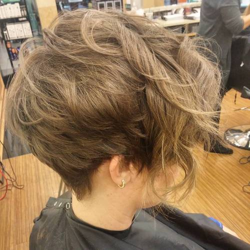 LONG WAVY PIXIE WITH BANGS