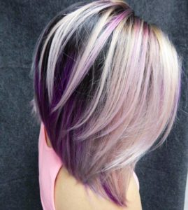 MEDIUM ANGLED PURPLE BOB