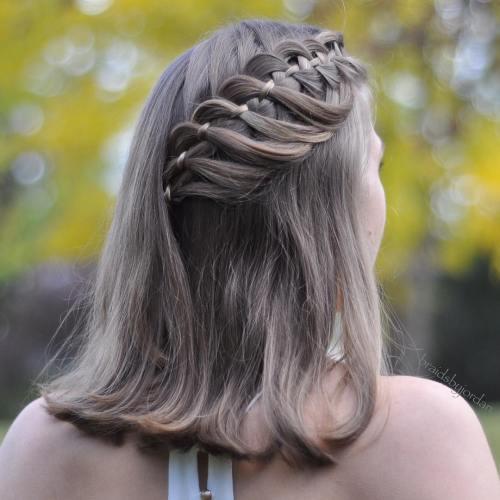 Medium hair with 4 strand braid