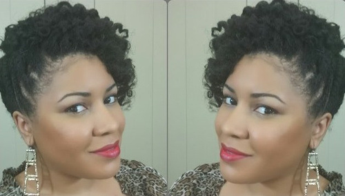 NATURAL HAIR SIDE SWEEP UPDO