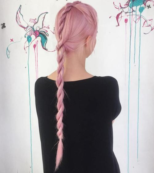 PINK ROPE BRAIDED STYLE