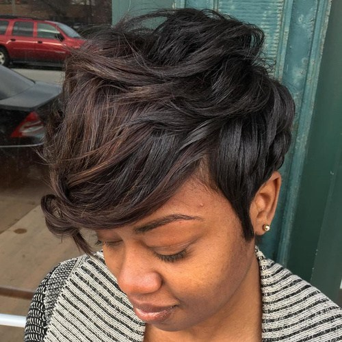 PIXIE CUT WITH BEAUTIFUL WAVES