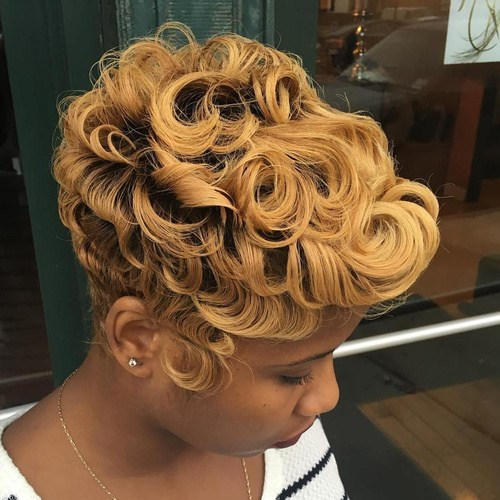 PIXIE WITH CURLS AND FINGER WAVES
