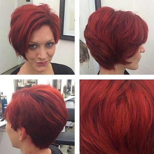 RED PIXIE BOB HAIRCUT