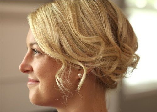 ROMANTIC UPDO FOR BOB LENGTH