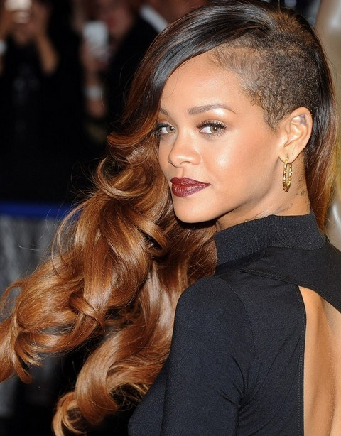 Edgy Chic Side Swept Long Curls