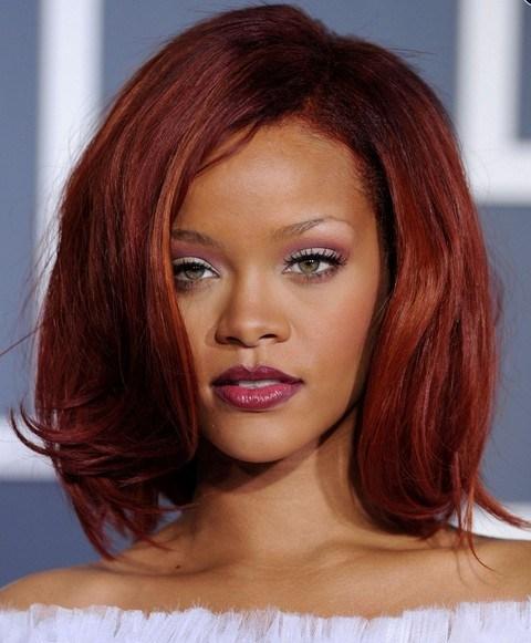 Rihanna Hairstyles Seductive Mid Length Bob For Women