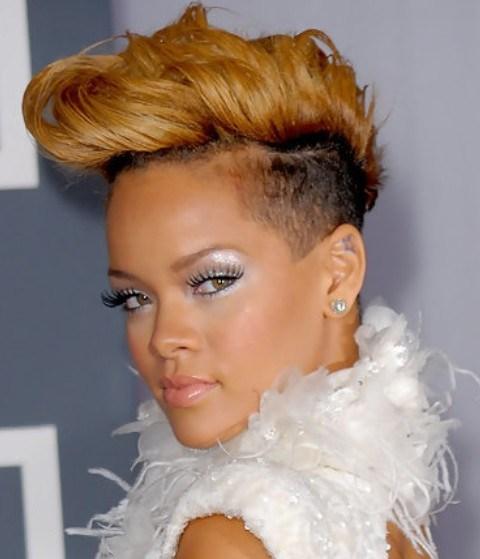 Rihanna Hairstyles Stylish Fauxhawk For Fashionistas