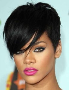 Rihanna Hairstyles Trendy Pixie Haircut