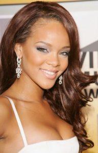 Rihanna Hairstyles Voguish Side Swept Long Curls
