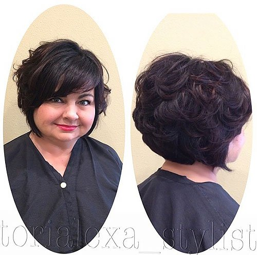 SHORT CURLS WITH SIDE BANG