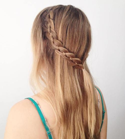 SIMPLE FOUR STRAND BRAID HAIRSTYLE