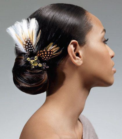 SLEEK EXOTIC UPDO FOR BLACK HAIR