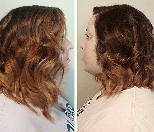 SOFT BROWN SHOULDER LENGTH CURLS