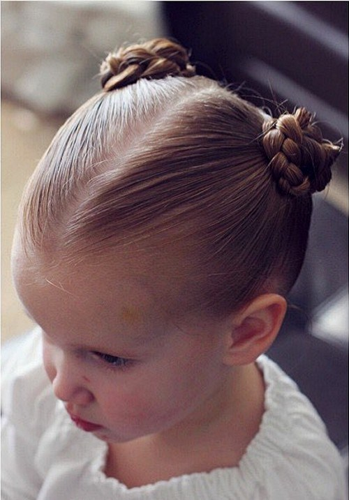 TIGHT BRAIDED KNOTS FOR LITTLE GIRLS