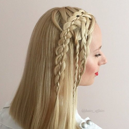 TWO FOUR STRAND BRAIDS AND A TWIST