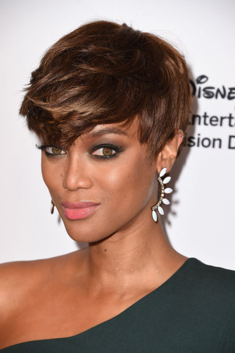 TYRA BANK'S THICK, TEXTURED STYLE