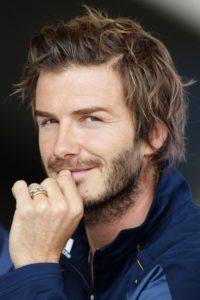david beckham Medium Haircut And Disheveled Hairstyle