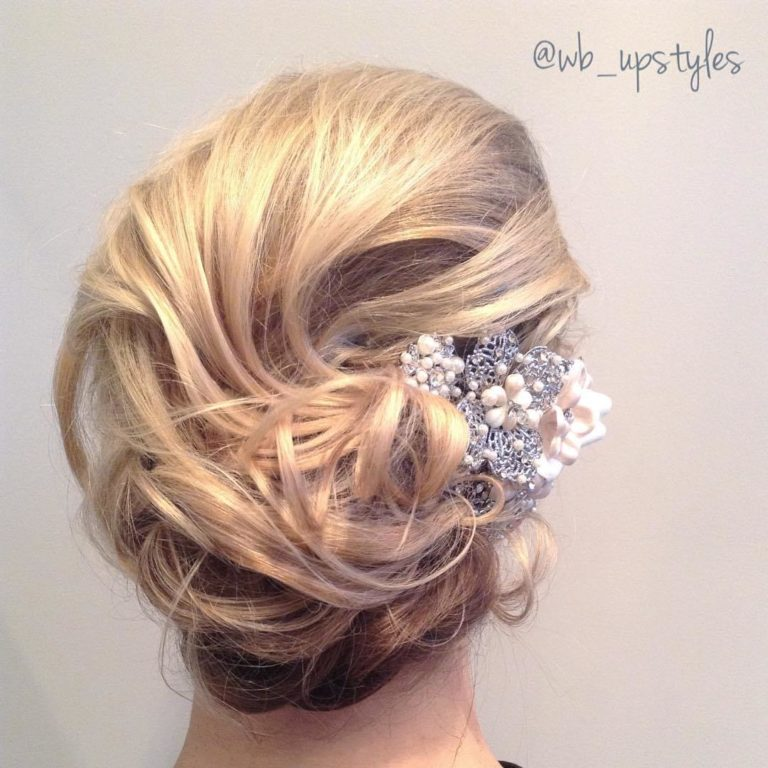 AIRY CURLY UPDO