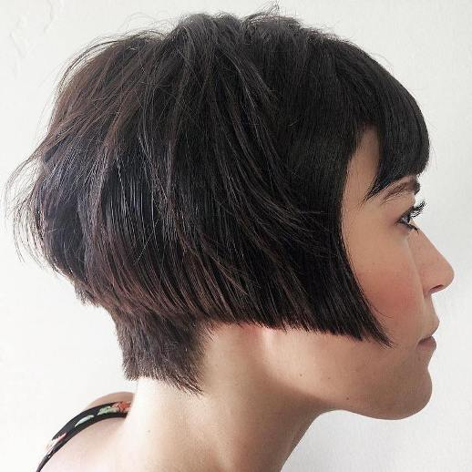 ANGLED BOB WITH NAPE UNDERCUT