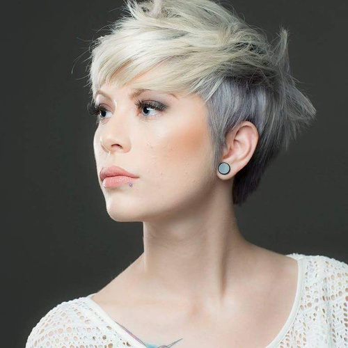ASHY BLONDE PIXIE WITH A MESSY TOUCH