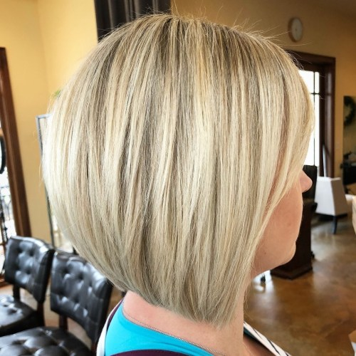 Ash blonde balayage bob with layers