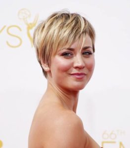 BIG BANG THEORY KALEY CUOCO SHORT HAIR