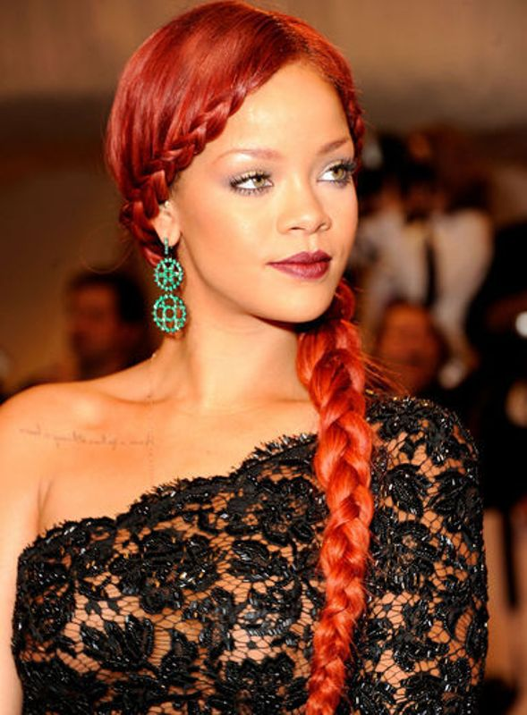 BRAIDED BLACK HAIRSTYLES WITH COLOR