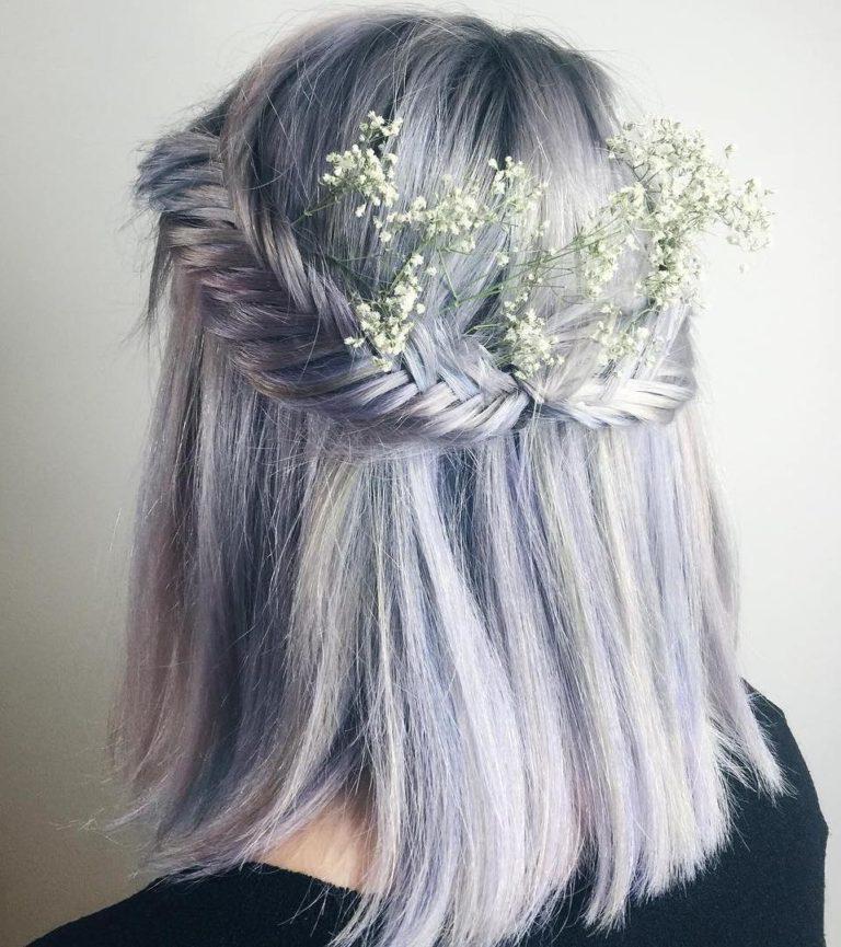 BRAIDED LAVENDER HAIR